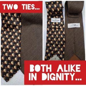 Vintage Bundle of Two Italian Designer Ties